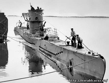 Немецкие подводные лодки волчьи