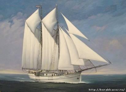 Картины парусных кораблей художника
